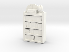 Dollhouse / O-Scale (1:48) Child's Bookshelf  in White Processed Versatile Plastic