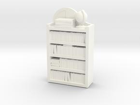 Dollhouse / O-Scale (1:48) Child's Bookshelf  in White Processed Versatile Plastic