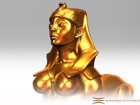 Sphinx Statue 10cm in Raw Brass
