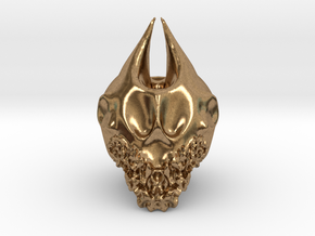 Bearded Skull in Natural Brass: Extra Large