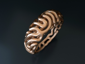 Reaction Diffusion Ring 5 (size 60) in 14k Rose Gold