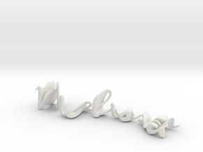 3dWordFlip: Melissa/Nish in White Strong & Flexible