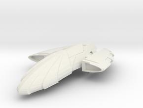 Romulan Condor Class  Scout in White Natural Versatile Plastic