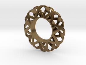 Fidget Spinner Simplest Wire 1 in Natural Bronze
