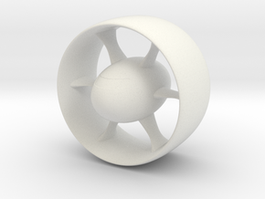 White Warp Ship in White Natural Versatile Plastic