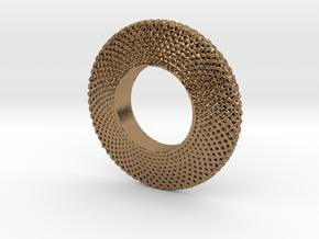 Fidget Spinner Simplest Wire in Natural Brass