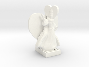 Queen Of Hearts in White Processed Versatile Plastic