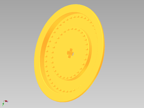 Wheelcover for racing wheel medium in Yellow Processed Versatile Plastic