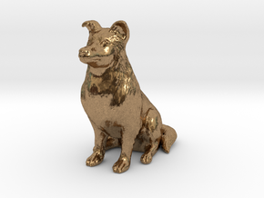 Dog Rough Collie Pet 8cm in Natural Brass