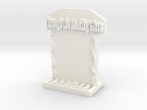 Mirror Rook  in White Processed Versatile Plastic