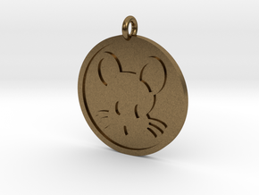 Mouse Pendant in Natural Bronze