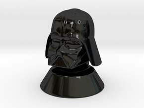 DARTH VADER Chess Piece (queen) in Gloss Black Porcelain