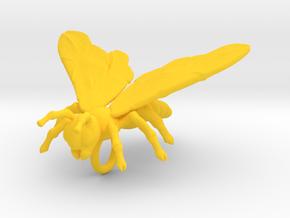 Bee Pendant in Yellow Processed Versatile Plastic
