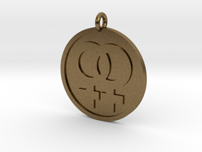 Double Female Pendant in Natural Bronze