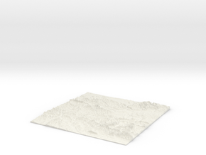 UK Relief Map - OS Area SU. Mainly Hampshire in White Natural Versatile Plastic