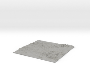UK Relief Map - OS Area SU. Mainly Hampshire in Aluminum