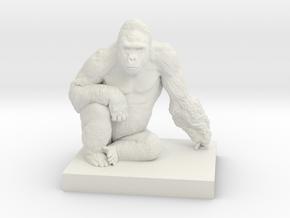 Gorilla Harambe in White Strong & Flexible