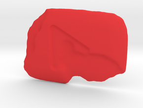 Melted Play Button in Red Strong & Flexible Polished