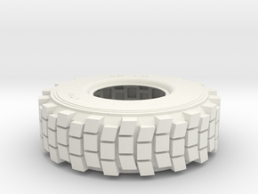 1/6 HEMTT TIRE  in White Strong & Flexible