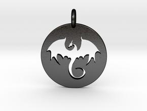The Dragon in Matte Black Steel