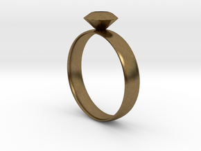 Metallic Diamond Ring 7 in Natural Bronze