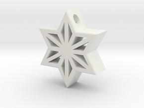 Asa Gara Pendant in White Natural Versatile Plastic