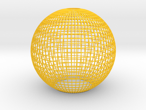 Grid Lampshade in Yellow Strong & Flexible Polished