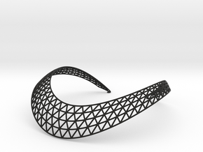 Dome II Necklace in Black Natural Versatile Plastic
