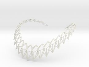 Rhombus Necklace in White Natural Versatile Plastic