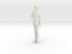 1/20 Space Force Pilot Hikaru Saluting in White Natural Versatile Plastic