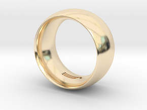 Modern+Convex_Wide in 14k Gold Plated Brass: 12.5 / 67.75