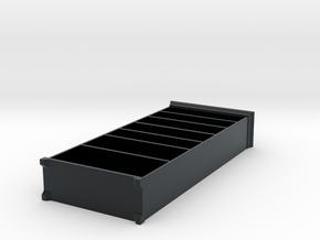 Miniature Liatorp Bookcase - IKEA in Black Hi-Def Acrylate: 1:24