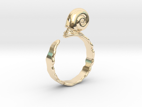 Ramshorn Ring - Size 6 in 14k Gold Plated Brass