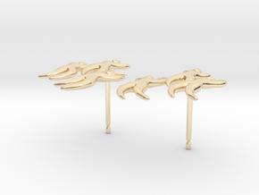 Dan's 'Dancing Figures' Earrings in 14k Gold Plated Brass