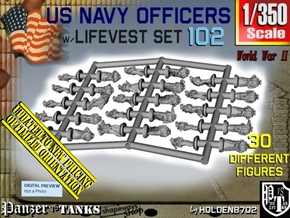 1-350 US Navy KAPOK Officers Set102 in Smoothest Fine Detail Plastic