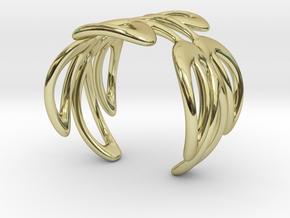Cuff Bracelet Weave Line B-006 in 18k Gold Plated Brass