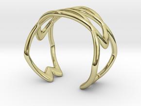 Cuff Bracelet Weave Line B-010 in 18k Gold Plated Brass