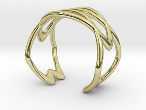 Cuff Bracelet Weave Line B-010 in 18k Gold Plated