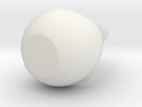 Pear Planter in White Natural Versatile Plastic