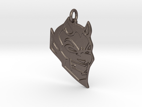 DAHS Pendant 2 in Polished Bronzed Silver Steel