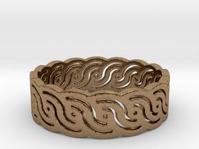 Croatian interlace female ring (+3 morale) in Natural Brass