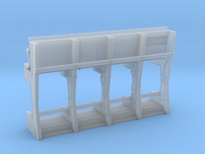 DeAgo Falcon Hold Aft Pipe Wall in Smooth Fine Detail Plastic