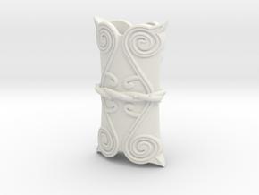 """BotW"" Forest Dweller's Sword Scabbard in White Natural Versatile Plastic: 1:12"