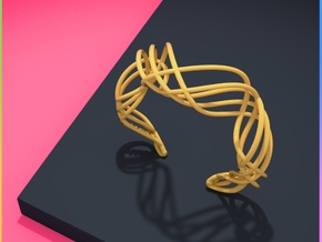 DNA  bracelet for her in Matte Gold Steel