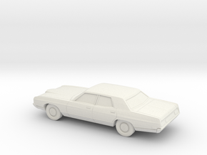 1/64 1971 Ford LTD Sedan in White Natural Versatile Plastic