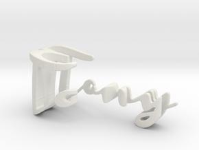 3dWordFlip: Tony/Eve in White Strong & Flexible