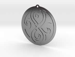 Earring of Rassilon 4cm in Polished Silver