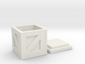D&D Wood Crate in White Natural Versatile Plastic