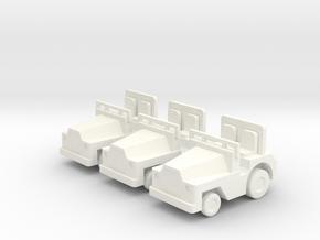 1/87 Scale SM340 Tow Tractors - 3 in White Processed Versatile Plastic