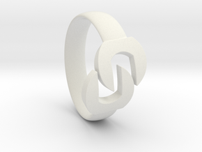 Wrench Ring  in White Natural Versatile Plastic